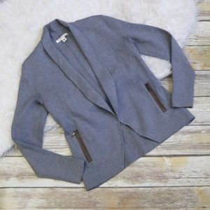Banana Republic Gray Jacket w/ Contrast Pockets